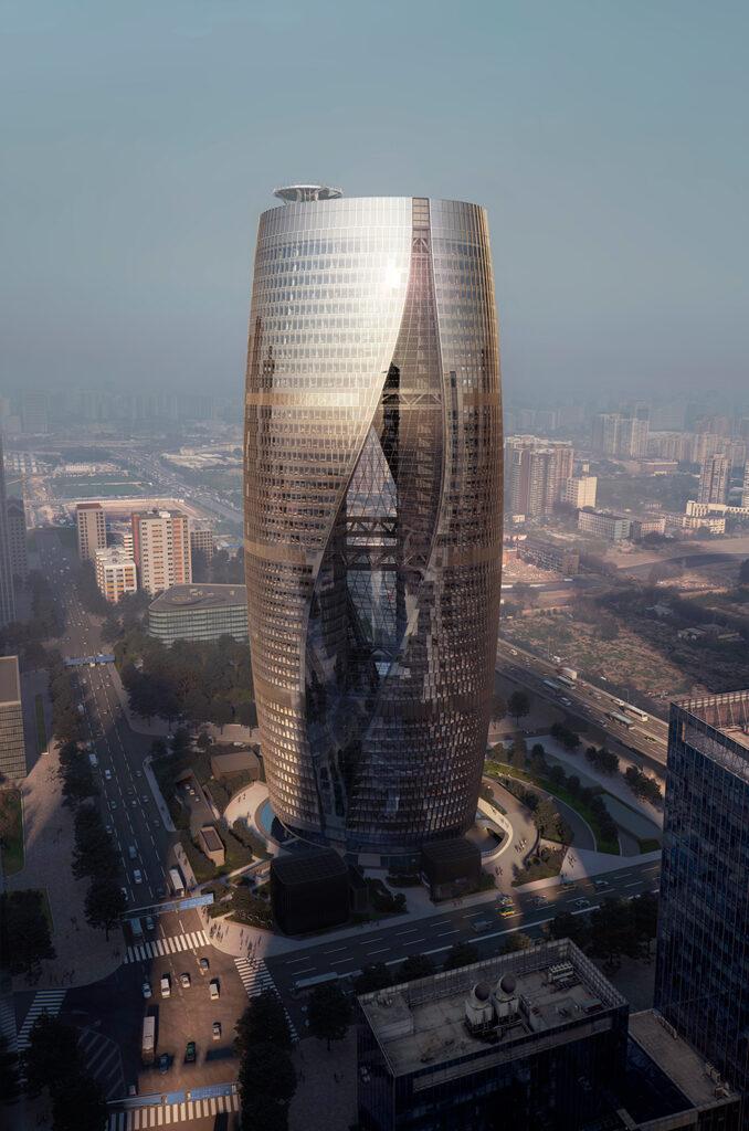 Body image 2: Leeza SOHO skyscraper, Beijing, China