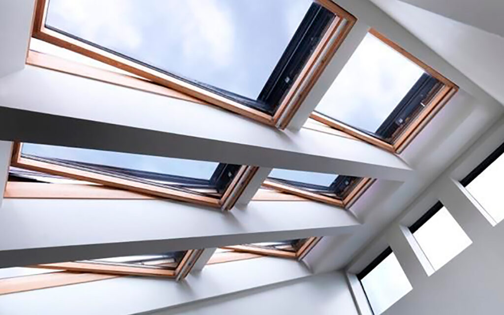 Roof windows in the House of Tomorrow Today