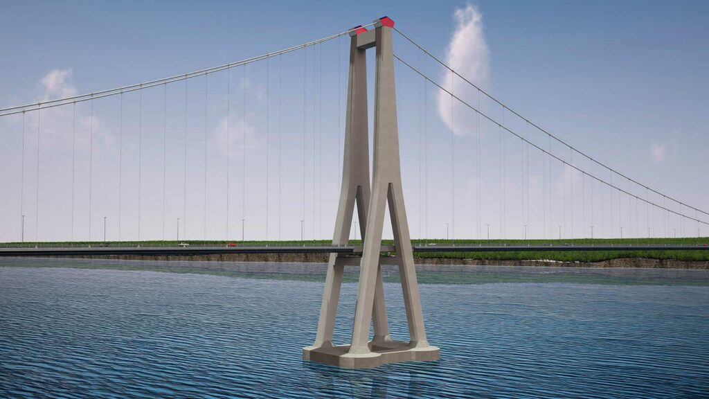 Artist's rendition of Chacao Bridge